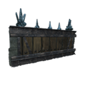 Black Ice-Reinforced Wooden Fence Wall