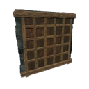 Black Ice-Reinforced Wooden Interior Wall