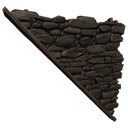 Smokestone Right-sloping Inverted Wall